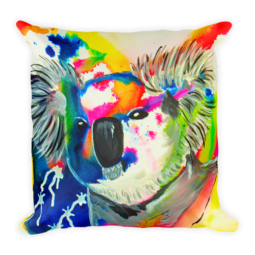Colorful Koala • Square Pillow