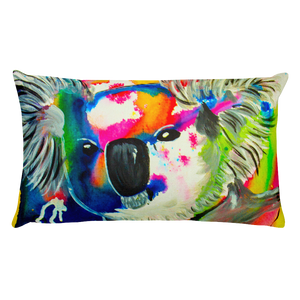 Colorful Koala • Rectangle Pillow
