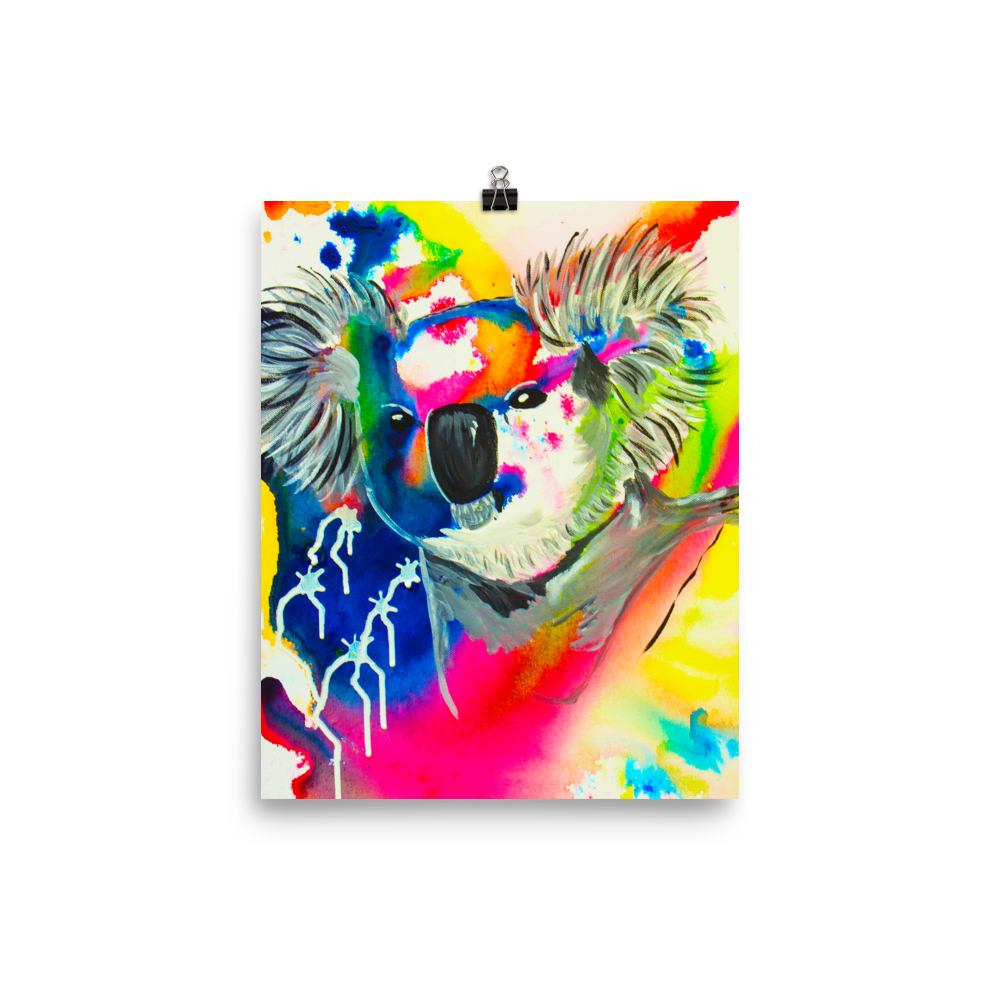 Colorful Koala Art Print