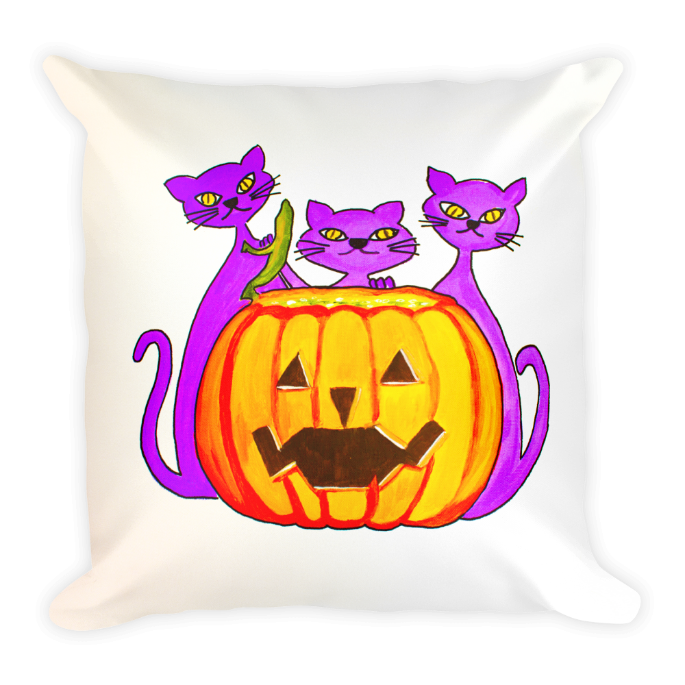 Halloween Cats • Square Pillow