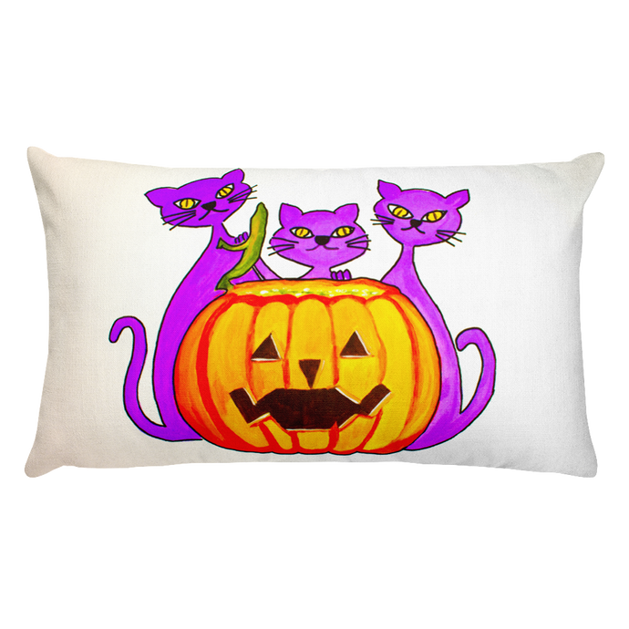 Halloween Cats • Rectangle Pillow