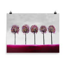 Maroon Trees • Art Print