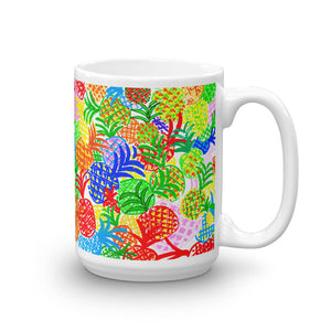 Colorful Pineapples • Mug
