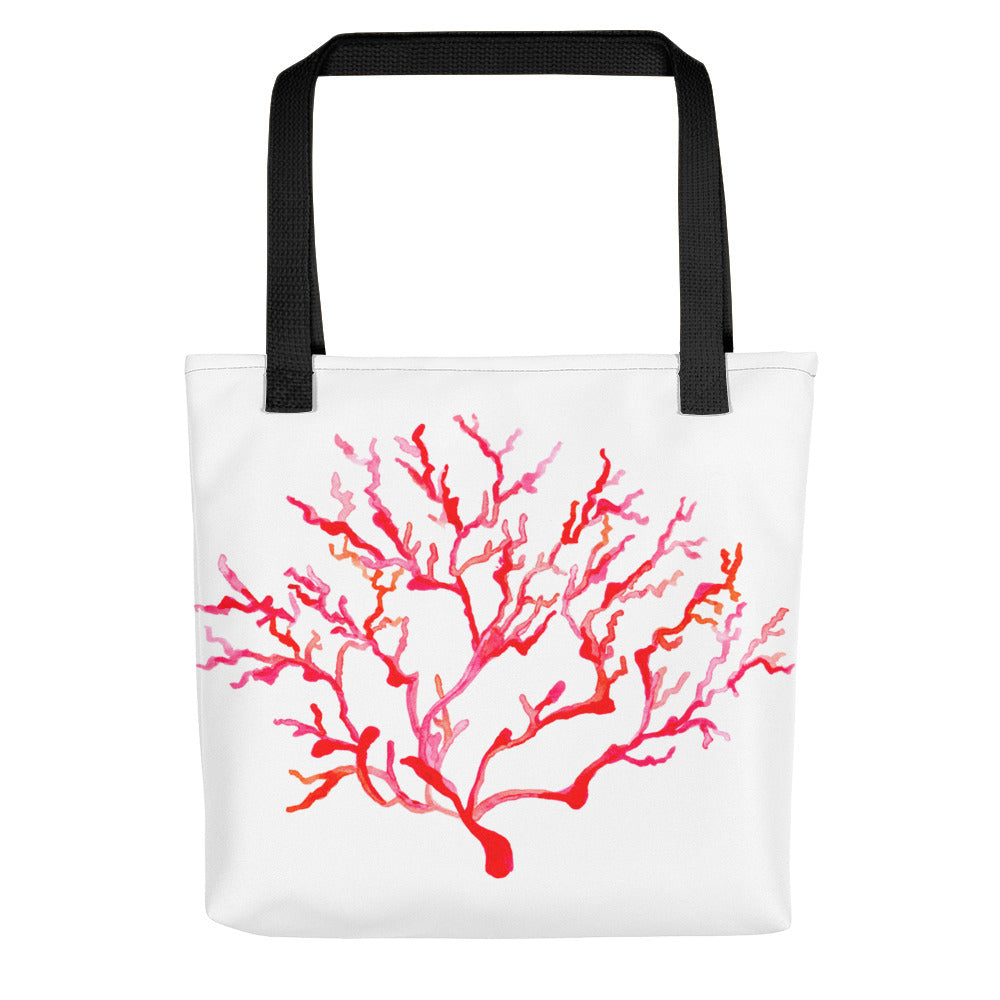 Red Orange Coral Tote Bag