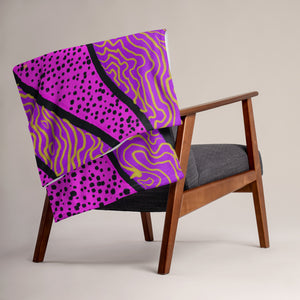 Purple Abstract Pattern • Throw Blanket