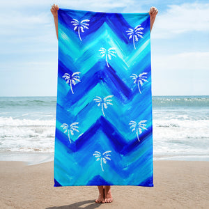 Palm Tree Pattern Towel