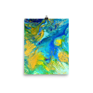 Gold n Blue II Art Print