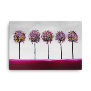 Maroon Trees • Canvas