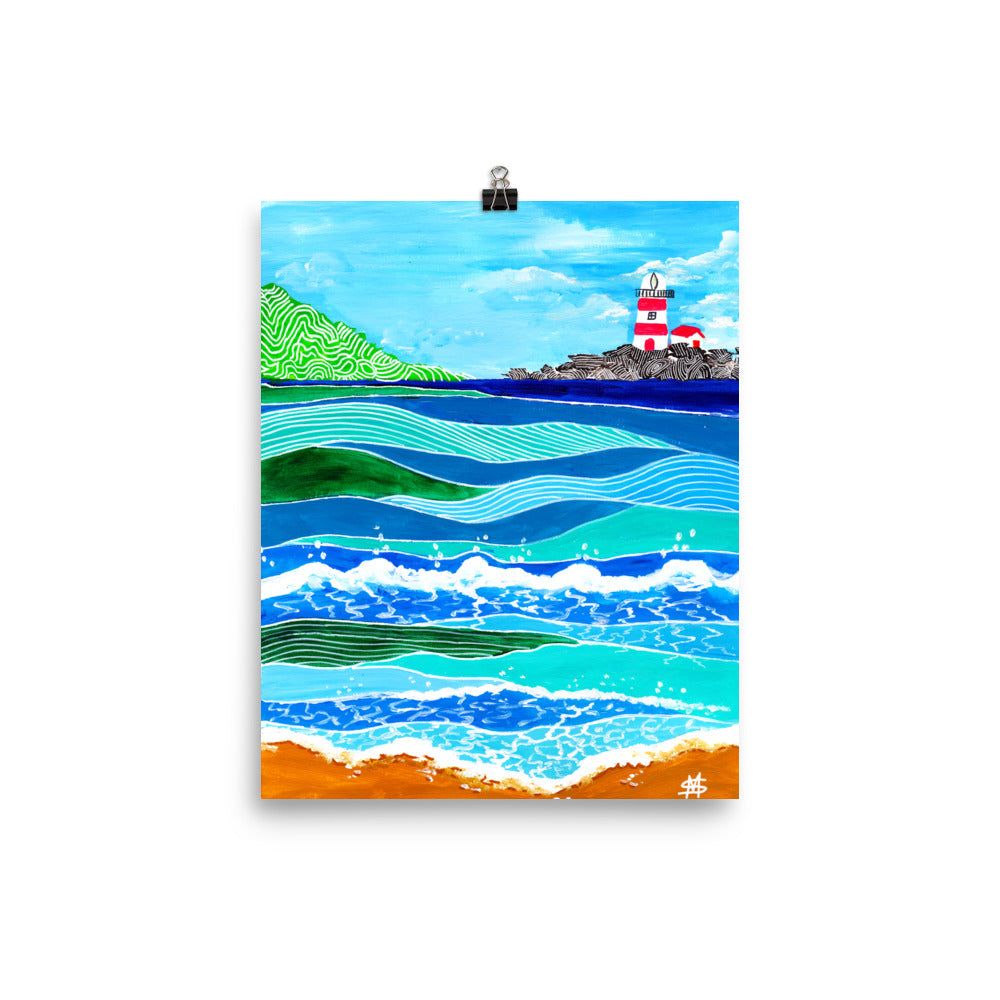 Lighthouse on the Waves • Art Print