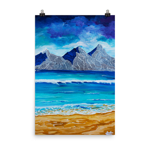 Island Mountains • Art Print