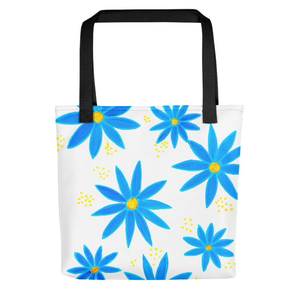 Blue Daisies Tote Bag