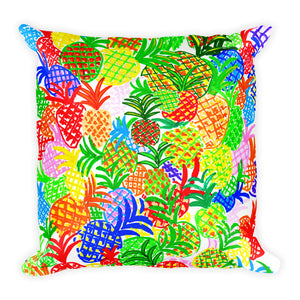 Colorful Pineapples • Square Pillow