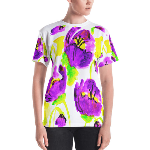 Purple Poppies Women's T-shirt