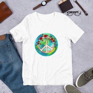 Poppy Peace Sign • Short-Sleeve Unisex T-Shirt