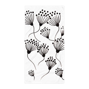 Black Thistle Towel