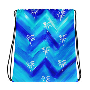 Palm Tree Pattern Drawstring Bag