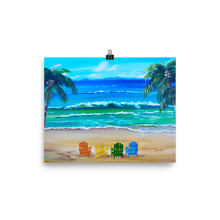 Load image into Gallery viewer, Relaxing Under The Palm Trees • Art Print
