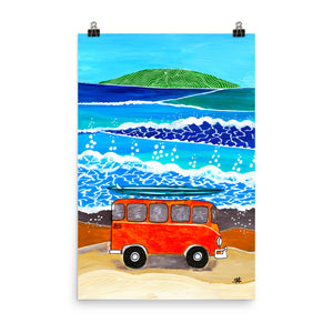 Orange Bus • Art Print
