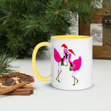 Christmas Flamingos 🦩 Mug with Color Inside