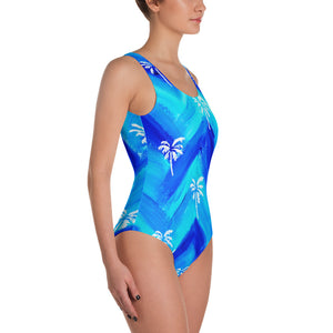 Palm Tree Pattern • One-Piece Swimsuit