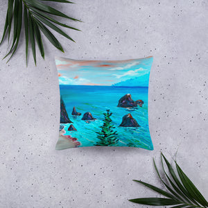Trees On The Coast • Basic Pillow Front