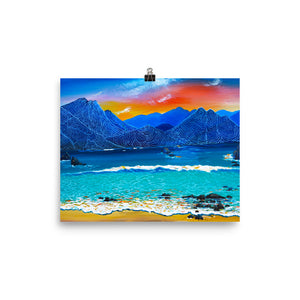 Water Meets the Mountains • Art Print