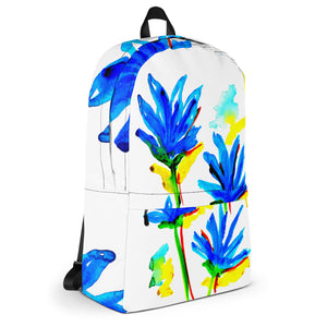 Blue Flowers Backpack