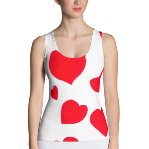 Red Hearts Women's Tank Top