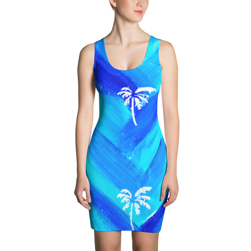 Palm Tree Pattern Dress