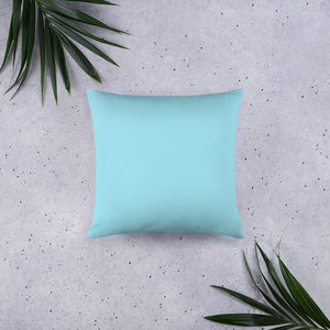 Mountain Bliss • Basic Pillow back 18 x 18 in