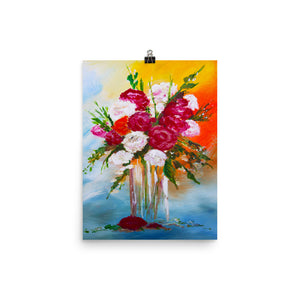 Vase Of Flowers II • Art Print