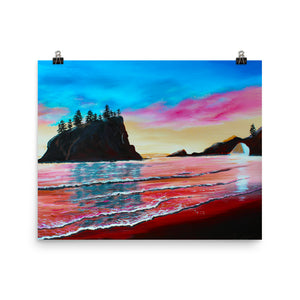 La Push Pink Beach • Art Print