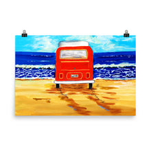 Load image into Gallery viewer, Orange Bus Art Print