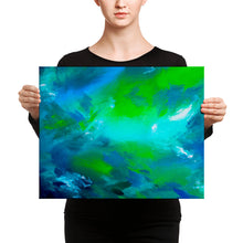 Blue Green Abstract • Canvas