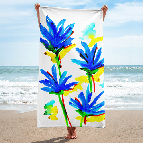Blue Flowers Towel