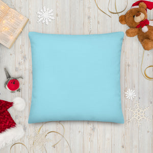 Flamingo Christmas Palm Tree Square Pillow Back