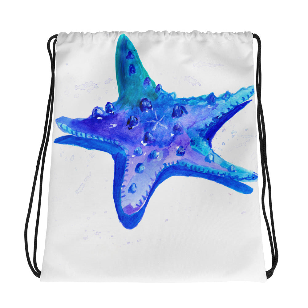 Sea Star Drawstring Bag