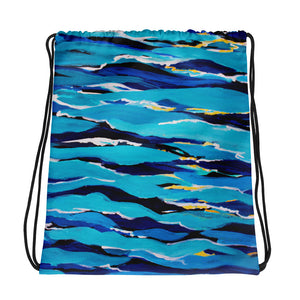 Waves • Drawstring bag