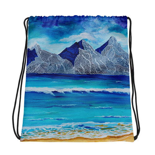 Island Mountain • Drawstring bag