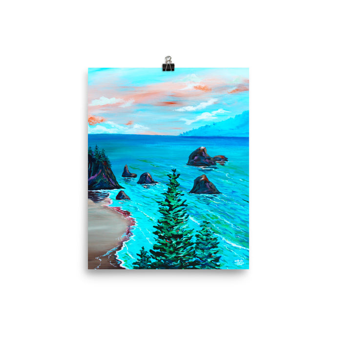 Trees On Coast • Art Print