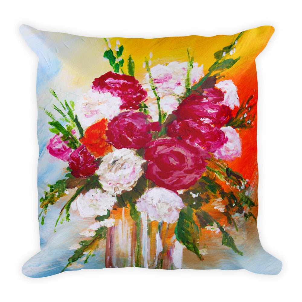 Vase Of Flowers II • Square Pillow