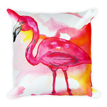 Pink Flamingo • Square Pillow
