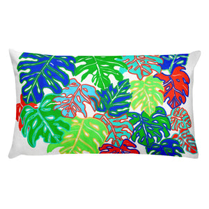 Colorful Monstera • Rectangular Pillow