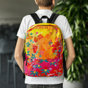 Yellow Floral Abstract • Backpack