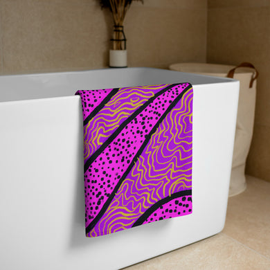 Purple Abstract Pattern • Towel