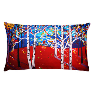 Sunset Aspens • Rectangular Pillow