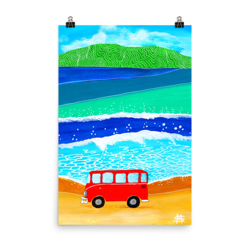Orange Bus II • Art Print