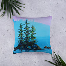 Island Pines Pink Sky • Basic Pillow front 22 x 22in