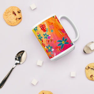 Yellow Floral Abstract • Mug