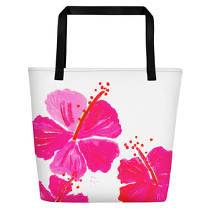 Pink Hibiscus • Beach Bag
